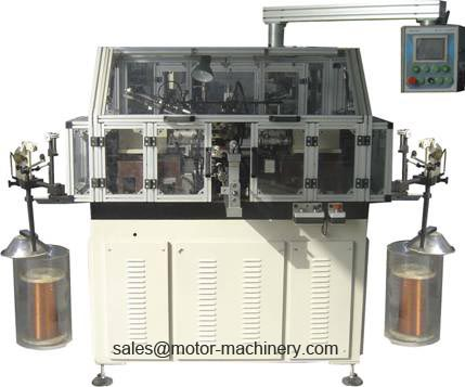 Automatic rotor winding machine