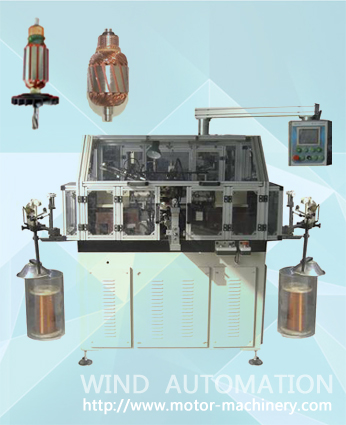 Double flyer armature winding for mixer armature WIND-STR