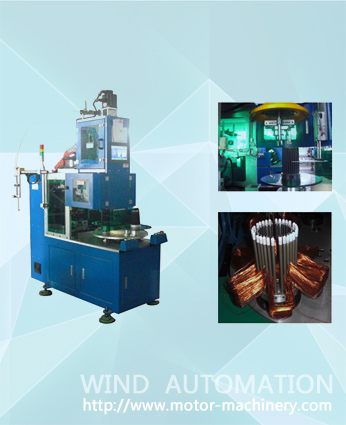 Automatic AC motor stator winding machine WIND-100-VW