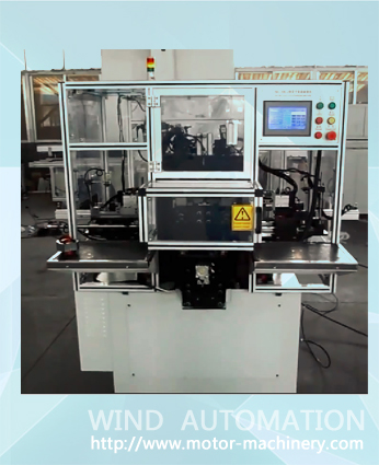 Fully automatical stator winding machine for two pole universal stator winder
