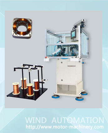 Four poles stator needle winding machine