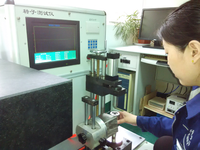 Rotor testing equipment selection